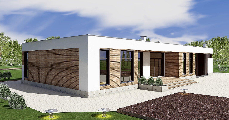 небольшие одноэтажные дома хай тек фото клич